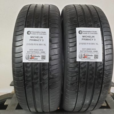 215/55 R18 99V XL Michelin Primacy 3 +6MM
