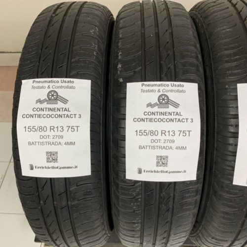 155/80 R13 75T Continental ContiEcoContact 3 – 50% +4mm – Gomme Estive