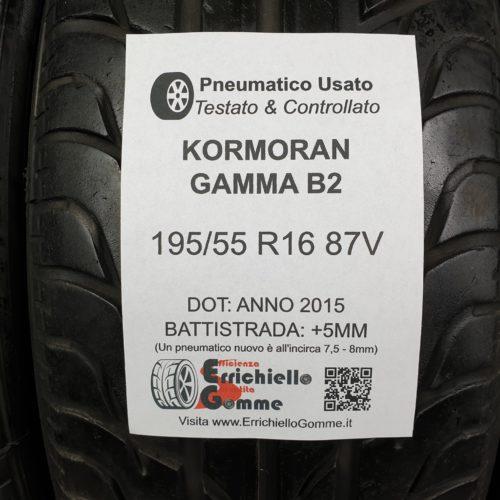 195/55 R16 87V Kormoran Gamma B2 – 60% +5mm – Gomme Estive