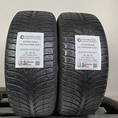 205/55 R16 94T XL M+S Goodyear Ultragrip Ice+ +5MM – Gomme Invernali