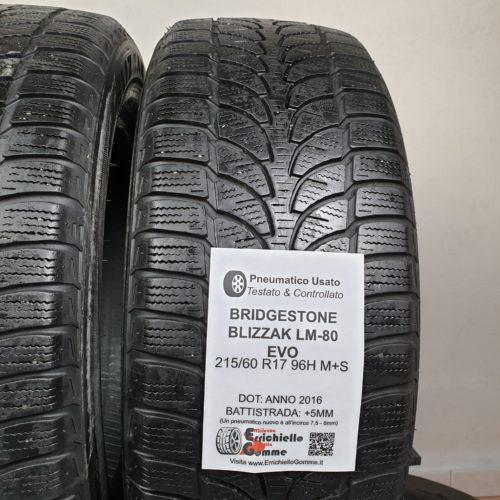 215/60 R17 96H M+S Bridgestone Blizzak LM-80 Evo – Gomme Invernali