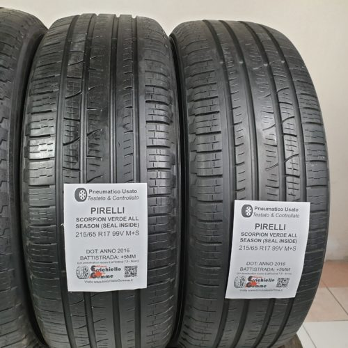 215/65 R17 99V M+S Pirelli Scorpion – 60% +5mm – Gomme 4 Stagioni