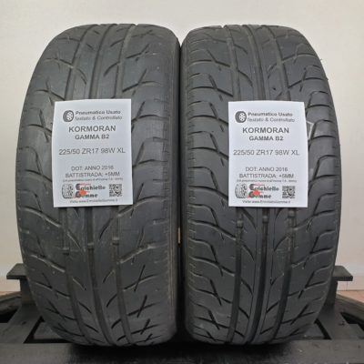 225/50 ZR17 98W XL Kormoran Gamma B2 – 60% +5mm – Gomme Estive