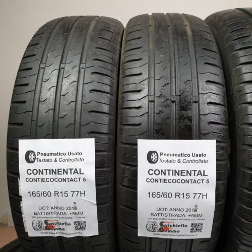 165/60 R15 77H Continental ContiEcoContact 5 – 60% +5mm – Gomme Estive