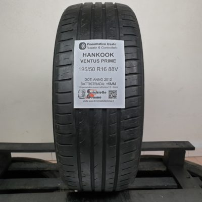 195/50 R16 88V Hankook Ventus Prime – 60% +5mm – Gomme Estive