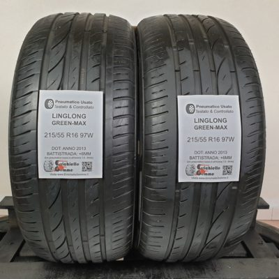 215/55 R16 97W LingLong Green-Max – 70% +6mm – Gomme Estive