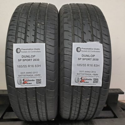 185/55 R16 83H Dunlop SP Sport 2030 – 60% +5mm – Gomme Estive