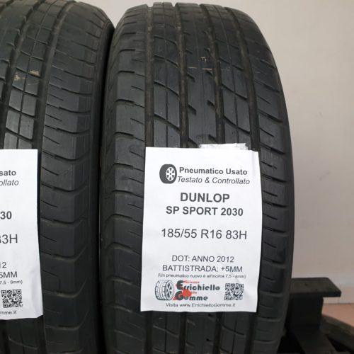185/55 R16 83H Dunlop SP Sport 2030 – 60% +5mm – Gomme Estive