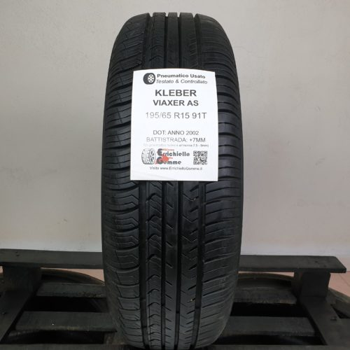 195/65 R15 91T Kleber Viaxer AS – 90% +7mm – Gomme Estive