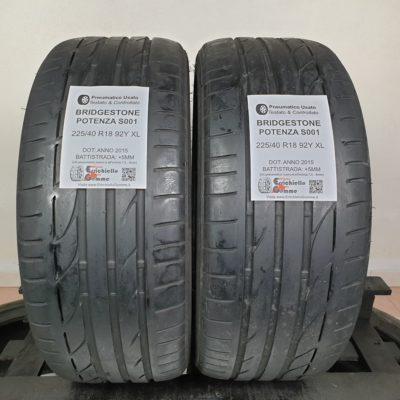 225/40 R18 92Y XL Bridgestone Potenza S001 – 60% +5mm – Gomme Estive