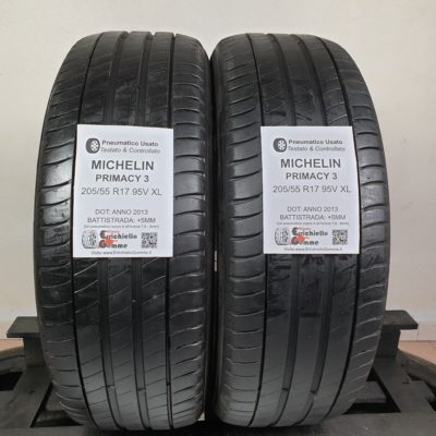 205/55 R17 95V XL Michelin Primacy 3 – 60% +5mm – Gomme Estive