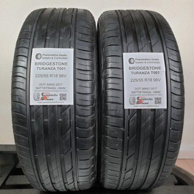 225/55 R18 98V Bridgestone Turanza T001 – 70% +6mm – Gomme Estive