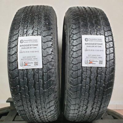 255/70 R18 113S M+S Bridgestone Dueler H/T 840 – 70% +6mm – Gomme 4 Stagioni