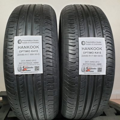 225/60 R17 99H Hankook Optimo K415 – 70% +6mm – Gomme Estive