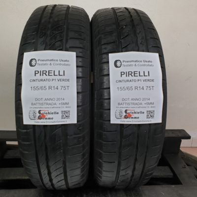 155/65 R14 75T Pirelli Cinturato P1 Verde – 60% +5mm – Gomme Estive
