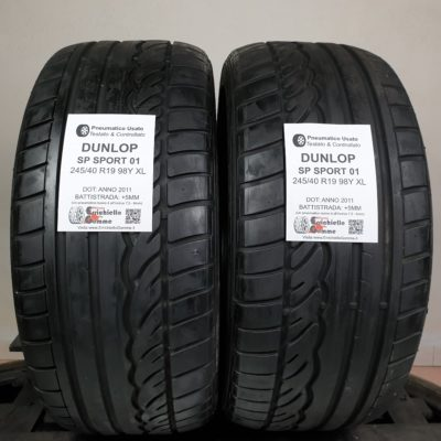 245/40 R19 98Y XL Dunlop SP Sport 01 – 60% +5mm – Gomme Estive