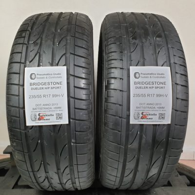 235/55 R17 99H-V Bridgestone Dueler H/P Sport – 70% +6mm – Gomme Estive