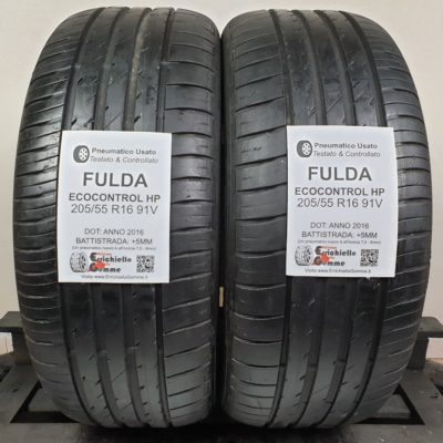 205/55 R16 91V Fulda EcoControl HP – 60% +5mm – Gomme Estive