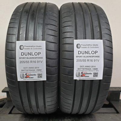 205/55 R16 91V Dunlop SportBlueResponse – 60% +5mm – Gomme Estive