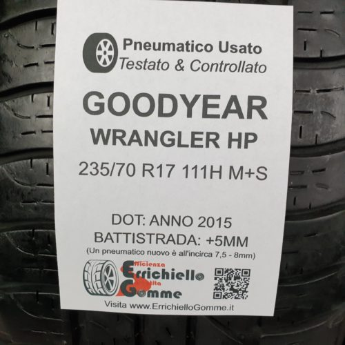 235/70 R17 111H M+S Goodyear Wrangler HP – 60% +5mm – Gomme 4 Stagioni