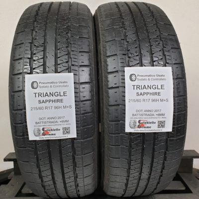 215/60 R17 96H M+S Triangle Sapphire – 70% +6mm – Gomme 4 Stagioni