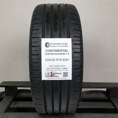 205/45 R16 83H Continental ContiEcoContact 5 – 60% +5mm – Gomme Estive