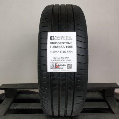 195/55 R16 87H Bridgestone Turanza T005 – 70% +6mm – Gomme Estive