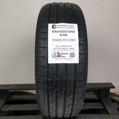 195/60 R15 88H Bridgestone B390 – 60% +5mm – Gomme Estive