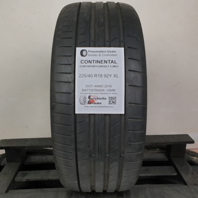 225/40 R18 92Y XL Continental ContiSportContact 5 (MO) – 60% +5mm – Gomme Estive