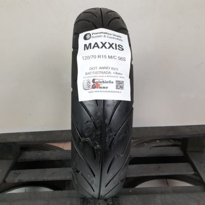 120/70 R15 M/C 56S Maxxis – 70% +4mm – Gomme Scooter