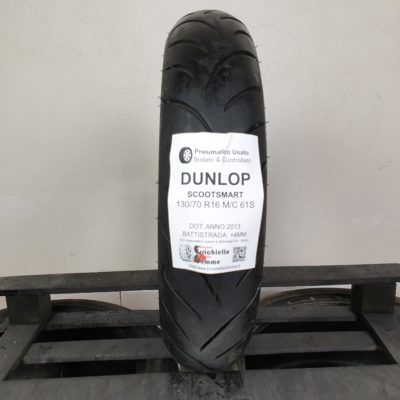 130/70 R16 M/C 61S Dunlop ScootSmart – 70% +4mm – Gomme Scooter