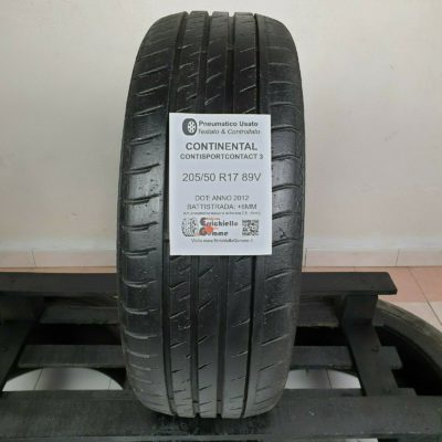 205/50 R17 89V Continental ContiSportContact 3 – Gomme Estive