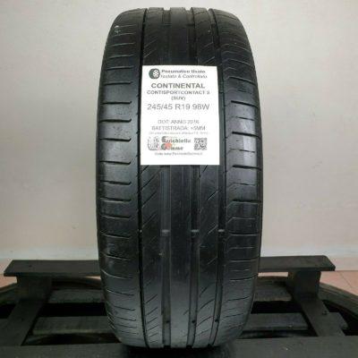 245/45 R19 98W Continental ContiSportContact 5 SUV – Gomme Estive