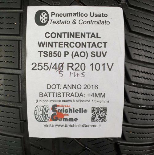 255/45 R20 101V M+S Continental WinterContact TS850 P (AO) SUV – Gomme Invernali