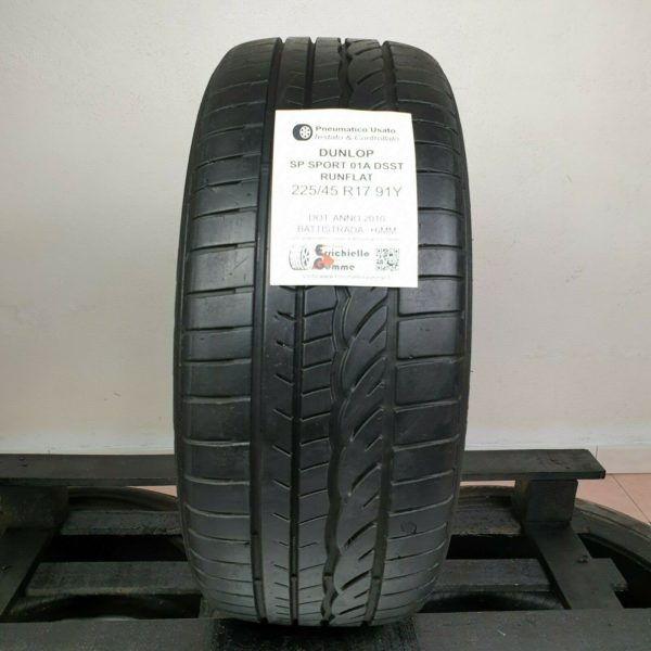 225/45 R17 91Y Dunlop SP Sport 01A DSST Runflat – Gomme Estive