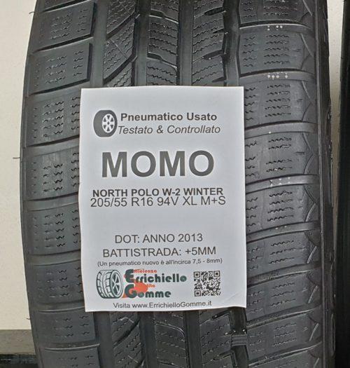 205/55 R16 94V XL M+S Momo North Polo W-2 Winter – 60% +5mm – Gomme Invernali