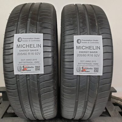 205/60 R16 92V Michelin Energy Saver – 60% +5mm – Gomme Estive