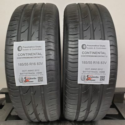 185/55 R16 83V Continental ContiPremiumContact 2 – 60% +5mm – Gomme Estive