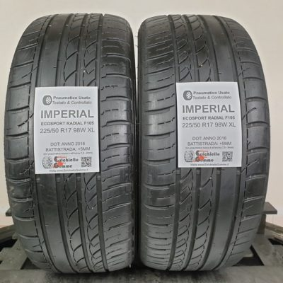 225/50 R17 98W XL Imperial EcoSport Radial F105 – 60% +5mm – Gomme Estive
