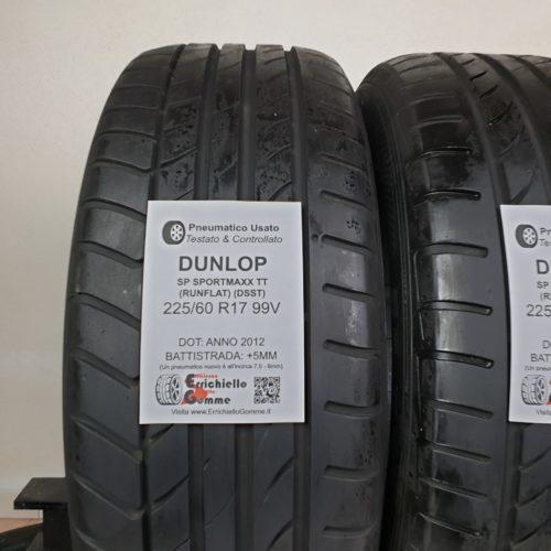 225/60 R17 99V Dunlop SP Sportmaxx TT (DSST) Runflat – 60% +5mm – Gomme Estive
