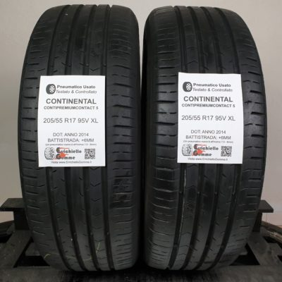 205/55 R17 95V XL Continental ContiPremiumContact 5 – 70% +6mm – Gomme Estive