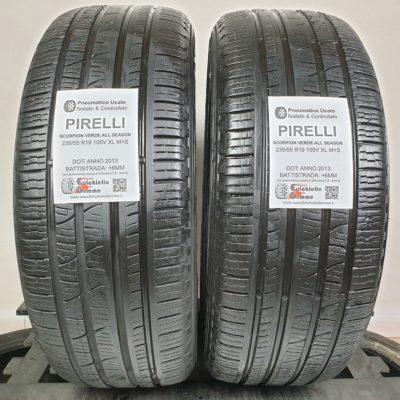 235/55 R19 105V XL M+S Pirelli Scorpion Verde All Season – 70% +6mm – Gomme 4 Stagioni