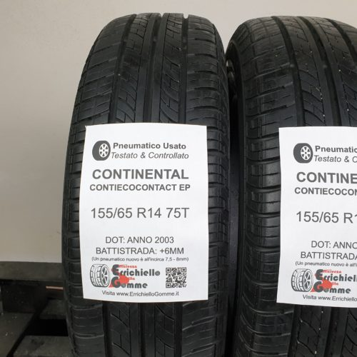 155/65 R14 75T Continental ContiEcoContact EP – 70% +6mm – Gomme Estive