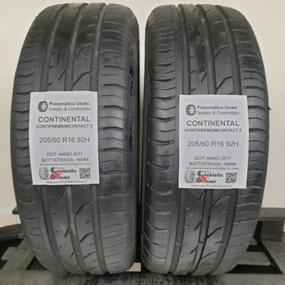 205/60 R16 92H Continental ContiPremiumContact 2 – 70% +6mm – Gomme Estive