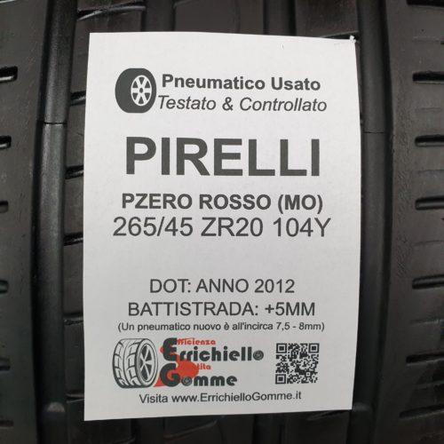 265/45 ZR20 104Y Pirelli Pzero Rosso (MO) – 60% +5mm – Gomme Estive