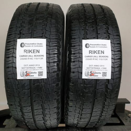 235/65 R16C 115/113R Riken Cargo (All Season) – 90% +7mm – Gomme 4 Stagioni Trasporto