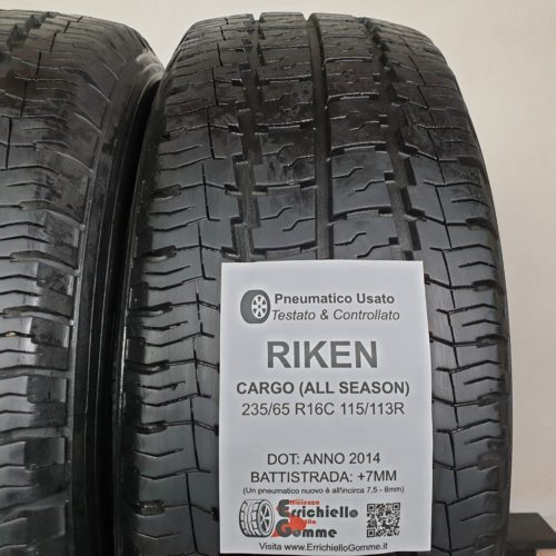 235/65 R16C 115/113R Riken Cargo (All Season) – 90% +7mm – Gomme 4 Stagioni Trasporto