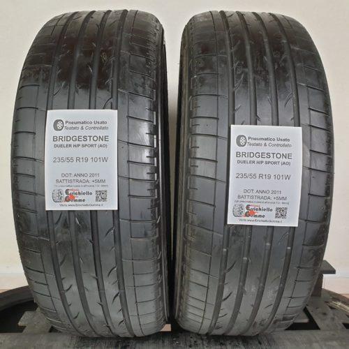 235/55 R19 101W Bridgestone Dueler H/P Sport – 60% +5mm – Gomme Estive