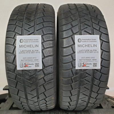 225/55 R18 98H M+S Michelin Latitude Alpin – 70% +6mm – Gomme Invernali