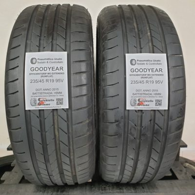 235/45 R19 95V Goodyear EfficientGrip MO Extended Runflat – 70% +6mm – Gomme Estive